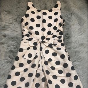 Kate Spade Black and Cream Polka Dot Dress 4